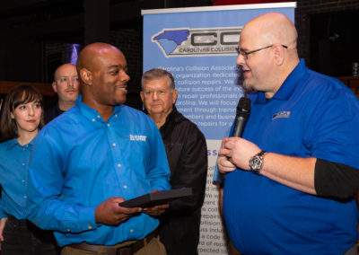 Casey Starnes owner of KC Starnes Autobody (Accepting award was Carlos who is the Shop manager) in Charlotte, NC